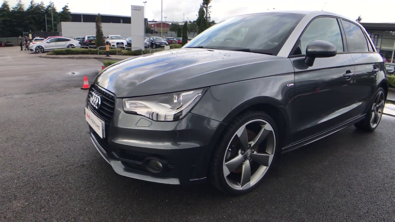 audi a1 sportback s line 2 0 tdi 143 ps 6 speed 5dr for sale at blackburn audi youtube. Black Bedroom Furniture Sets. Home Design Ideas