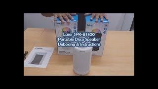 Laser SPK-BT800 Portable Disco Speaker Unboxing & Instructions