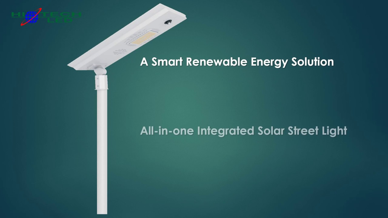 Hitechled Innovative All In One Solar Led Street Light With Drawer Buy Cheap Powered Integration Lampara Todo En Uno