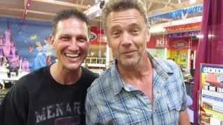 John Schneider sings with fan at Volo Auto Museum 6/29/13