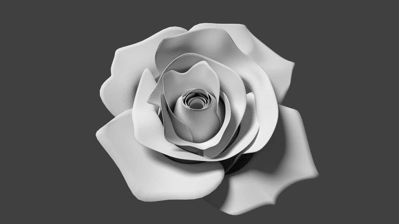 Rose Modeling Time Lapse   Blender