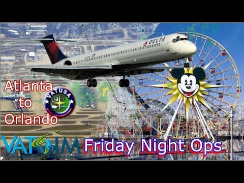 Vatsim FNO - Delta Maddog, Atlanta to Orlando
