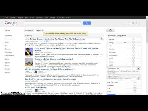 Google News/Alerts Tutorial