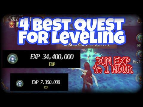 Toram Online - 4 Best Leveling Quest (Garden of Beginning Map)