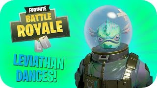 All My Dances/Emotes On The NEW Leviathan Skin! // Fortnite Batlle Royale