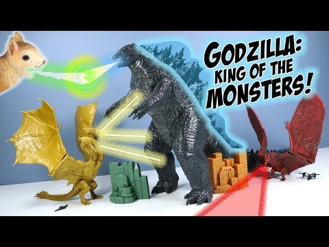 Godzilla: King Of The Monsters King Ghidorah & Rodan Toys Jakks Pacific