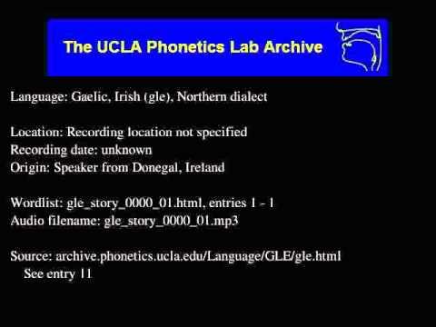Gaelic, Irish audio: gle_story_0000_01