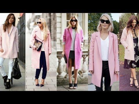 C чем и как носить розовое пальто