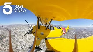 Fly in an 80-Year-Old Biplane in 360