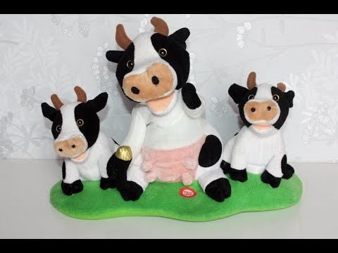 Singing and Dancing Cow and Calves -Musical Moo Calf Soft Plush Toy