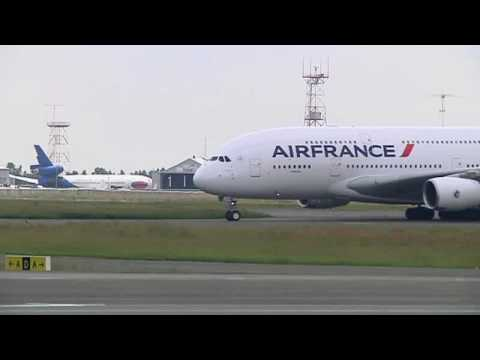 Air France A380 Arrival at Johannesburg Airport