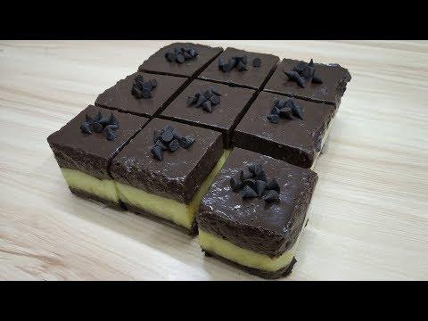 3 LAYERS NO BAKE CHOCOLATE PUDDING PASTRY| NO BAKE & EGGLESS