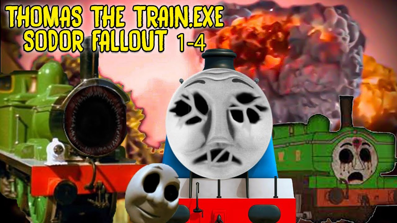 SCARY THOMAS THE TANK ENGINE.EXE VIDEOS Compilation | SODOR FALLOUT 1- 4
