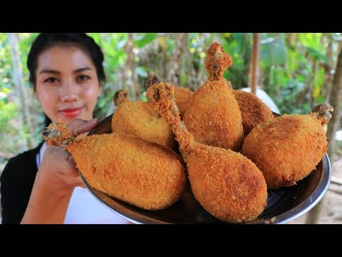 Yummy cooking crispy chicken leg with potato recipe - Natural Life TV Cooking