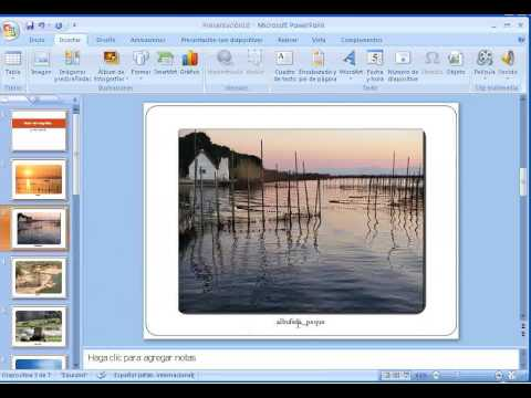 crear album de fotos en powerpoint 2007 youtube