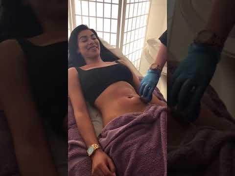 In treatment: model Olivia Berzinc tries out our Lipocontrast treatment thumbnail