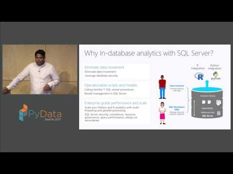 Sumit Kumar - In database Machine Learning with Python in SQL Server