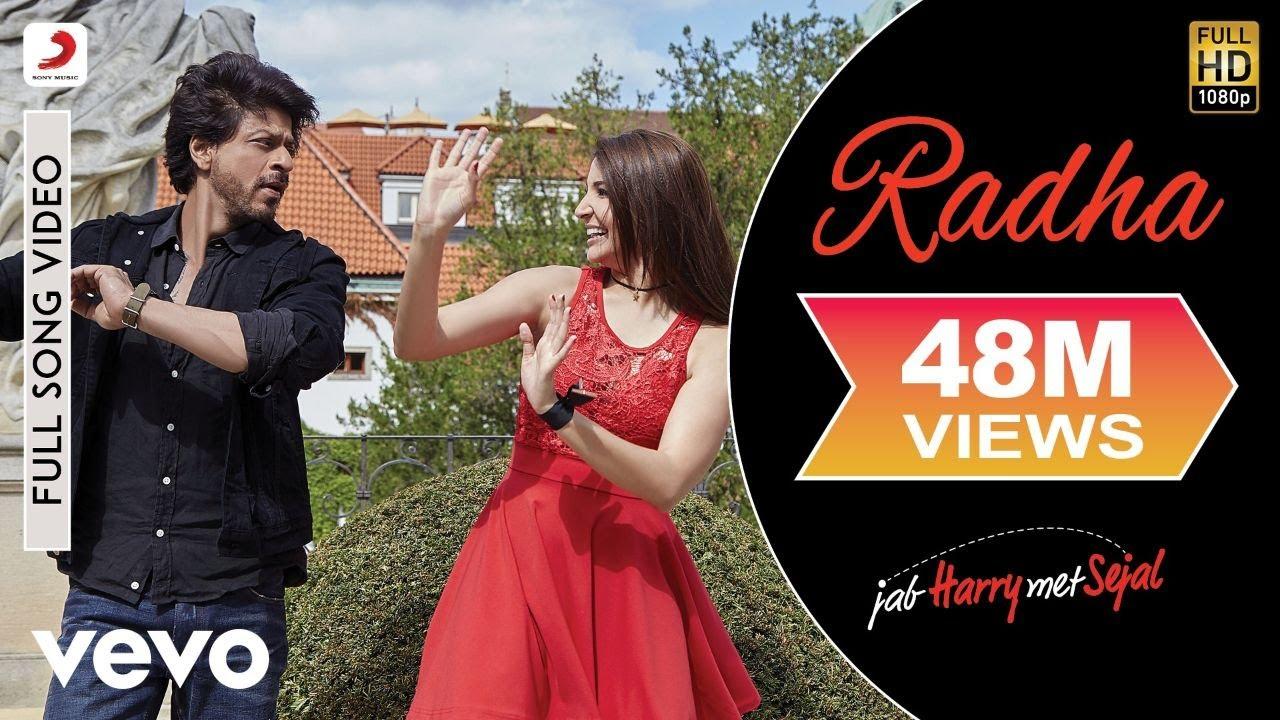 Download Radha Full Video - Jab Harry Met Sejal|Shah Rukh Khan, Anushka|Sunidhi Chauhan|Pritam