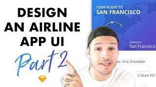Flight Ticket App Interface Design Part 2 • UI Design Tutorial