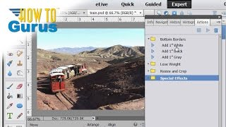 how to use automated actions in adobe photoshop elements 15 14 13 12 11 tutorial