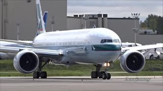 Cathay Pacific 50th Boeing 777-300ER Test Flight @ KPAE Paine Field