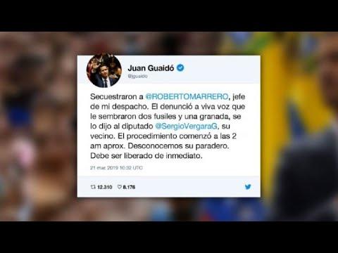 Venezuela Guaido denounces arrest of his chief of staff (tweet)