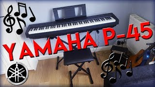 Yamaha P-45 keyboard bundle unboxing and review