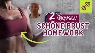 2 Übungen für eine schöne Brust Zuhause. Frau & Mann 🙋🏼🙋🏽♂️