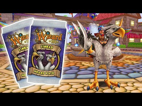 Wizard101: *NEW* Sinbad Hoard PACK! - 20k Crowns Opening