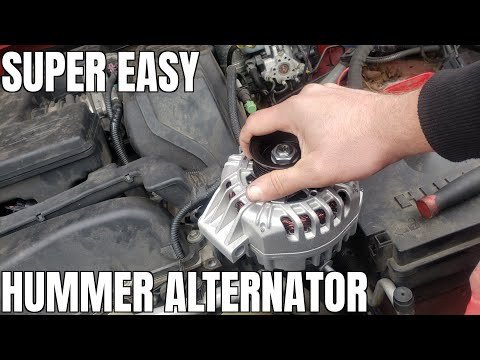 How to Replace Alternator Hummer H3 3.5 Liter