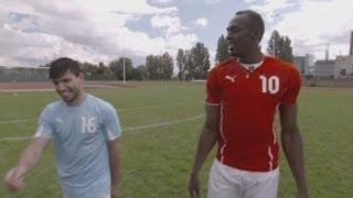 Usain Bolt vs. Sergio Aguero: Sprinter tries to trick Man City striker ahead of Manchester derby