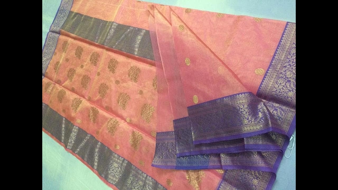 Chanderi Pure Katan Silk Tissue/weightless Sarees || pure silk sarees/katan  sarees/tissue sarees