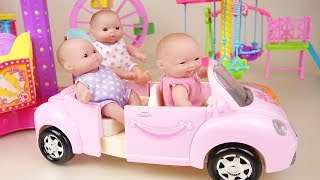 Baby Doli car and amusement park toys baby doll play