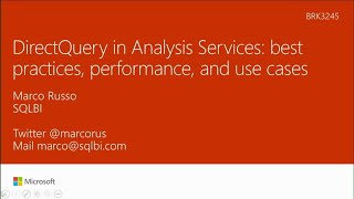 DirectQuery in Analysis Services: Best practices, performance, use cases