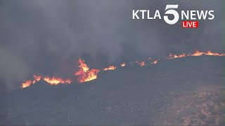 Crews battle fast-moving Martindale Fire north of Santa Clarita