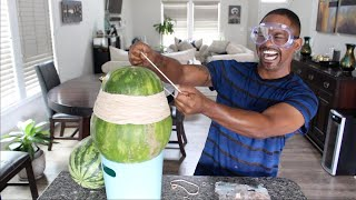 Watermelon VS 1500+ Rubber bands !! (EXPLOSION)