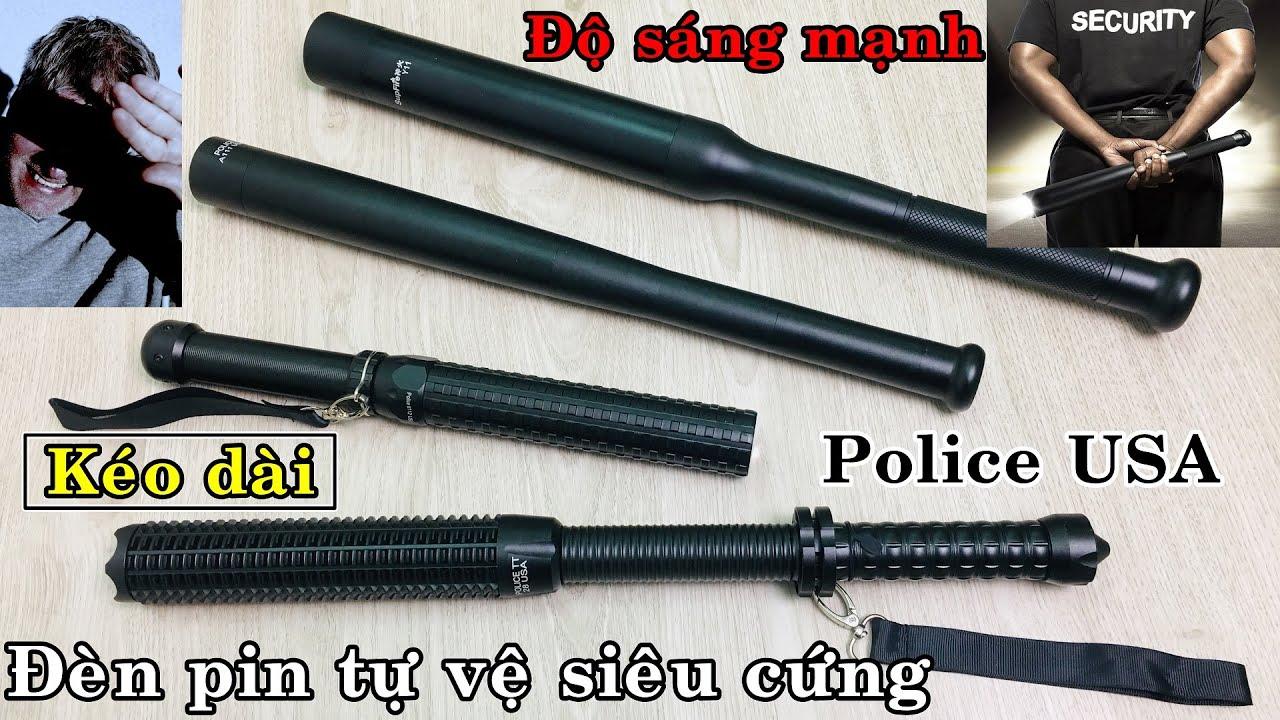 HOT] Các loại đèn pin tự vệ USA, siêu cứng, độ sáng cao. Supfire Y11,  Police K28, A111, A112. - YouTube