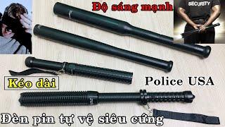 [HOT] Các loại đèn pin tự vệ USA, siêu cứng, độ sáng cao. Supfire Y11, Police K28, A111, A112.