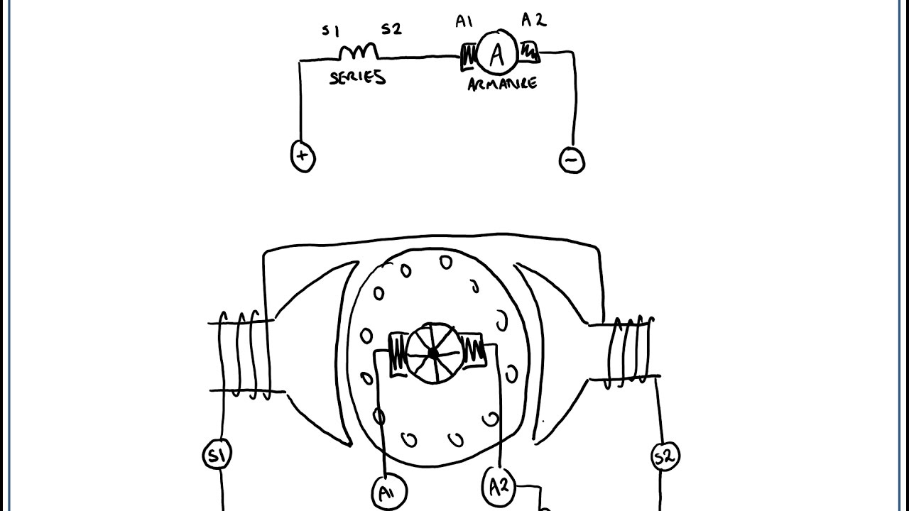 dc motor connection diagram