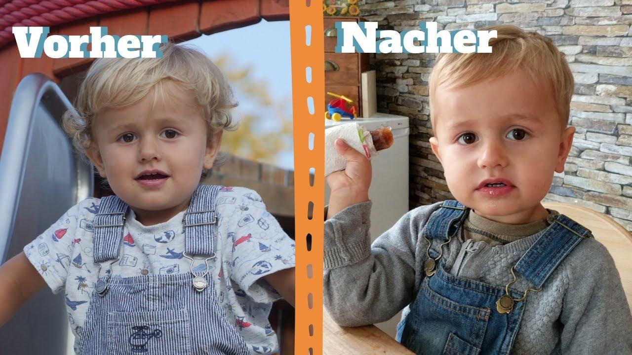 AUSPROBIERT: Kleinkind SELBST die HAARE SCHNEIDEN - Haarschnitt