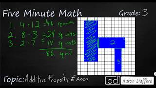 3rd Grade Math Additive Property of Area