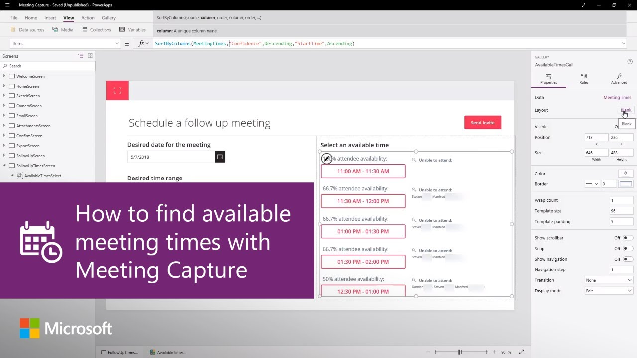 Learn All About The Meeting Capture Powerapps Sample Template – Home