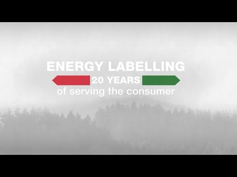 Energy labelling 20 Years of serving the consumer