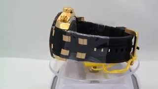 Invicta 17885 Pro Diver Chronograph Champagne Dial Black Polyurethane Mens Watch