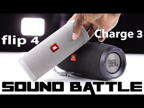 JBL Flip 4 vs Charge 3 :Sound Battle -The real sound comparison (Binaural recording)
