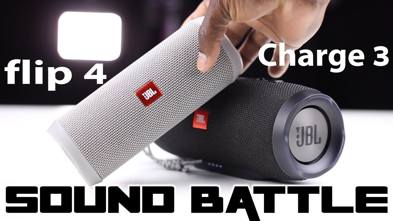 JBL Flip 4 vs Charge 3 :Sound Battle -The real sound comparison (Binaural  recording)