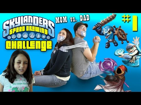 Skylanders Speed Drawing Challenge Part 1: TORTURED PARENTS draw ENIGMA, FLING KONG & FLIP WRECK !!