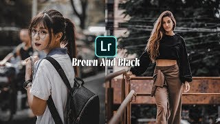 How to Edit Brown And Black - Lightroom Mobile Tutorial (Free Preset)