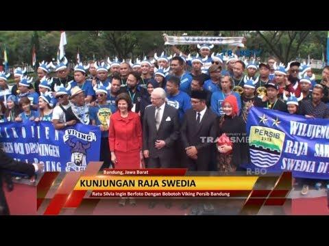 Bandung Meriah Sambut Kunjungan Raja Swedia, Bertemu Viking Persib