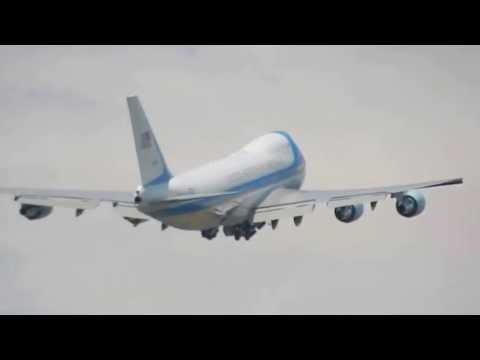 Air Force One Departing Costa Rica With President Obama